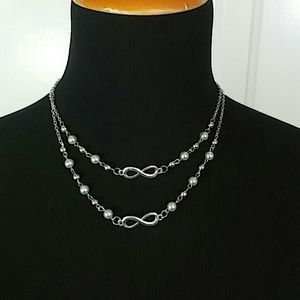 Paparazzi Jewelry - Necklace & Earring Set: Infinity and Green beads